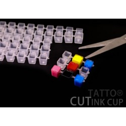 Clear Tattoo Modul Cut Ink Cap