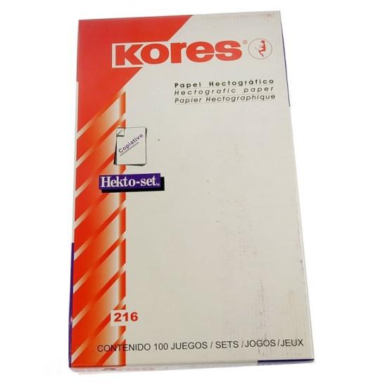 Kores Hectograph Transfer Paper 100 Pcs