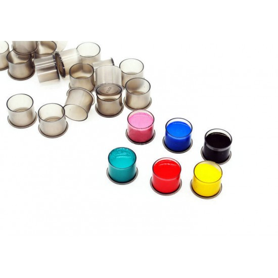 11mm Tattoo ink Cup 100 Pieces Grey