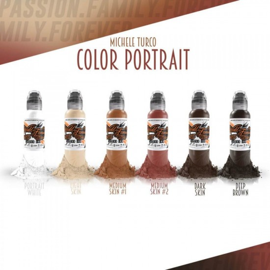 World Famous Tattoo İnk Michele Turco Color Portrait Set 6 X 30ML