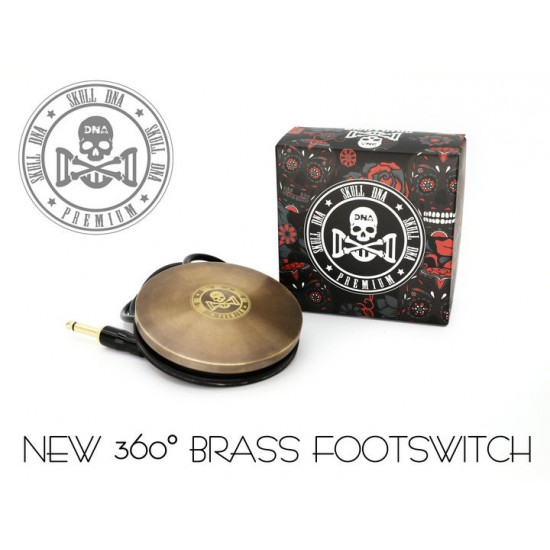 Ava Old School Brass Skull DNA Tattoo Footswitch