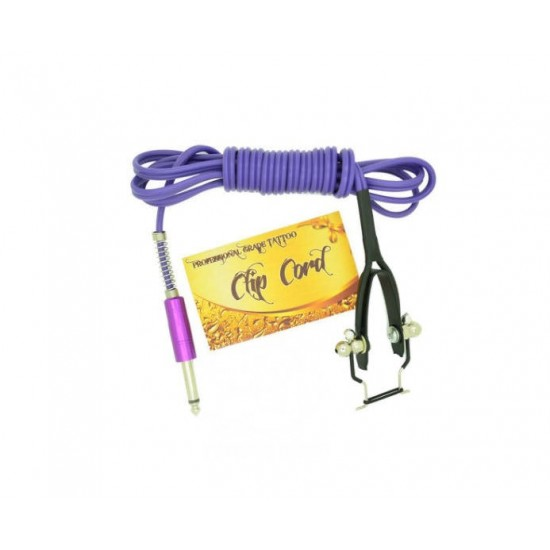 Premium Quality Silicone Tattoo Machine Clipcord Purple