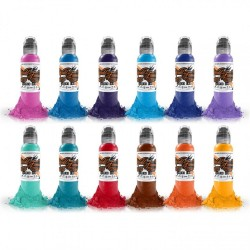 World Famous Tattoo İnk Primary Set #2 12 Color 30 ML