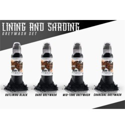 World Famous Tattoo İnk Lining  Shading Set 4oz 120ml