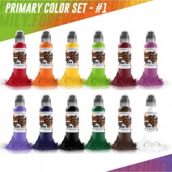 World Famous Tattoo İnk Primary Set #1 12 Color 30 ML
