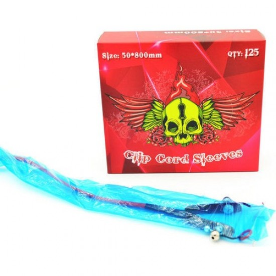Tattoo Machine Clipcord Sleeves 125 Pcs