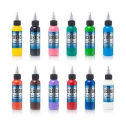 Fusion Tattoo İnk 12pcs Simple Color Set 30 ML