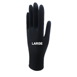 Beybi Black Nitrile Gloves Large 20 Box