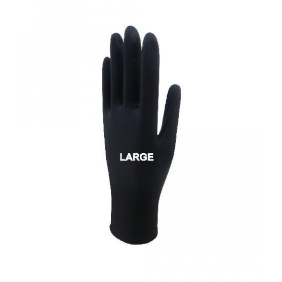 Beybi Black Nitrile Gloves Large 20 Box