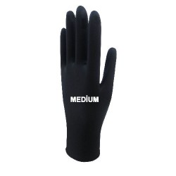 Beybi Black Nitrile Gloves Medium