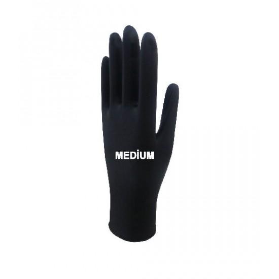 Beybi Black Nitrile Gloves Medium