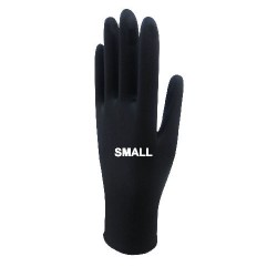 Beybi Black Nitrile Gloves Small