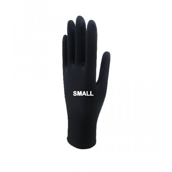 Beybi Black Nitrile Gloves Small 20 Box