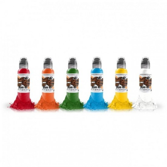 World Famous Tattoo İnk Simple Color Ink Set 6 x 30ml