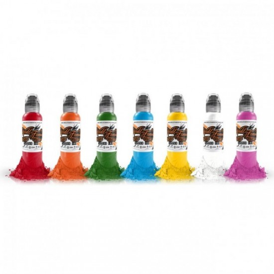 World Famous Tattoo İnk Simple Color Ink Set 7 x 15ml